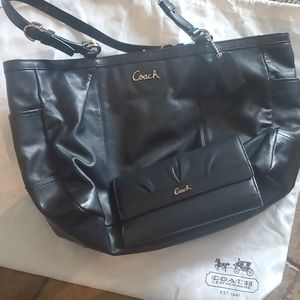 Coach tote with matching wallet